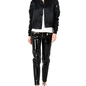 Tommy Hilfiger GiGi Hadid black leather pants, 2